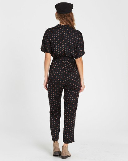 3 Bed Story Printed Jumpsuit Black JN02SBBE Billabong