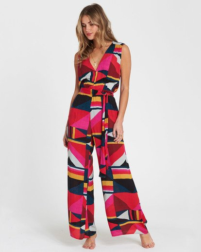 1 Seeing Tricks Printed Jumpsuit  JN04SBSE Billabong