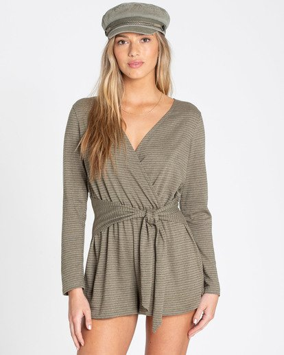 0 Perfect Time Romper Green JN11TBPE Billabong