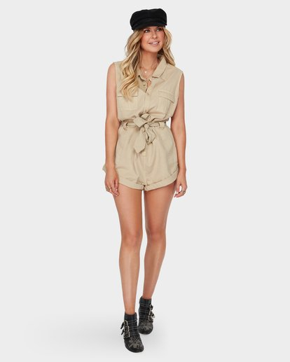 4 The Desert Romper Beige JN91SBDE Billabong