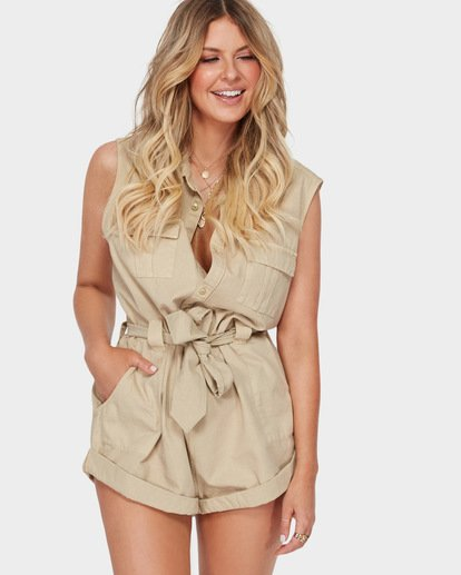 1 The Desert Romper Beige JN91SBDE Billabong