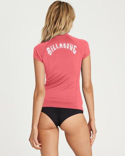 1 Surf Dayz Performance Short Sleeve Rashguard Pink JR02NBSD Billabong