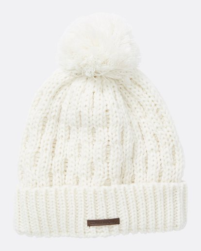 1 Women's Good Vibes Only Pom Pom Beanie White JSBNQGOO Billabong