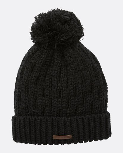 1 Women's Good Vibes Only Pom Pom Beanie Black JSBNQGOO Billabong