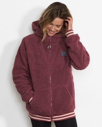 2 Women's Blossom Sherpa Hoodie Red JSN6QBLO Billabong