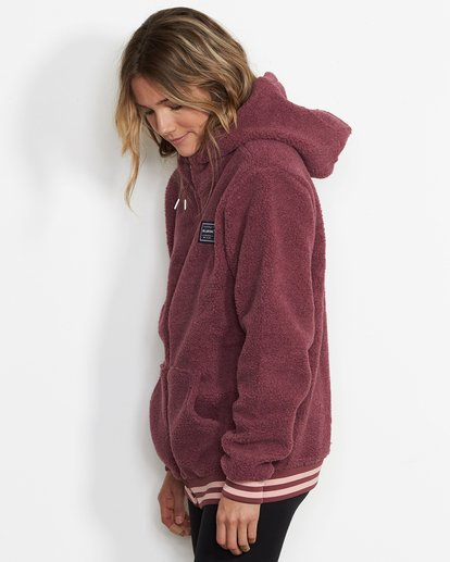 1 Women's Blossom Sherpa Hoodie Red JSN6QBLO Billabong