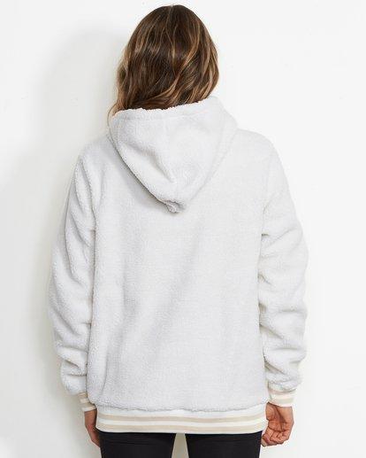 1 Women's Blossom Sherpa Hoodie White JSN6QBLO Billabong