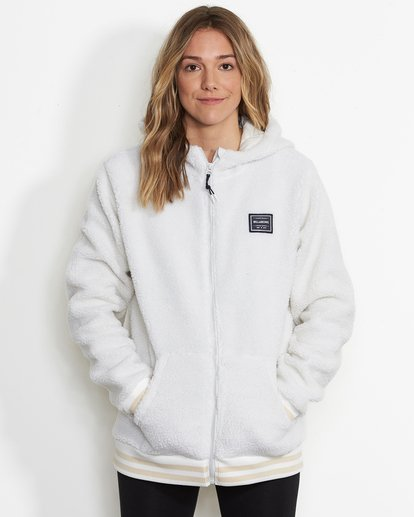 0 Women's Blossom Sherpa Hoodie White JSN6QBLO Billabong