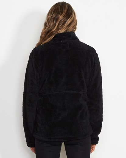 1 Women's First Chair Zip Up Sherpa Fleece Black JSN6QFIR Billabong