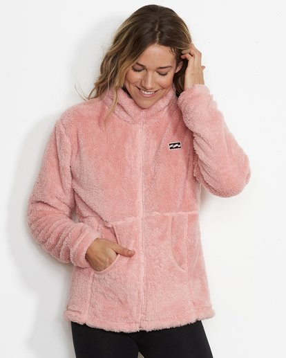 2 Women's First Chair Zip Up Sherpa Fleece Pink JSN6QFIR Billabong