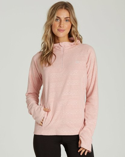 0 Women's Morning Call Half Zip Polar Fleece Pink JSN6QMOR Billabong
