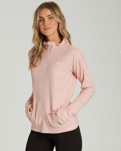 1 Women's Morning Call Half Zip Polar Fleece Pink JSN6QMOR Billabong