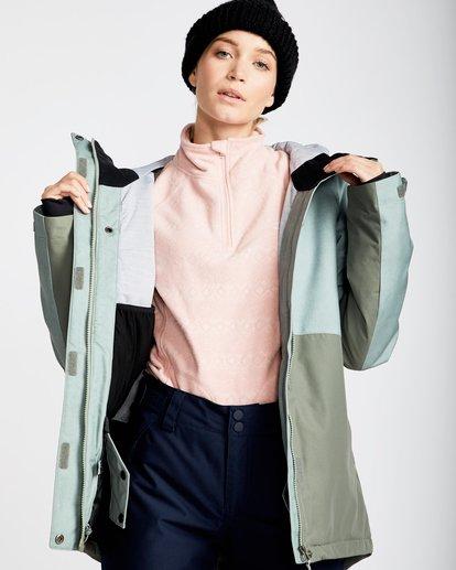 2 Women's Sienna Outerwear Jacket Green JSNJQSIE Billabong