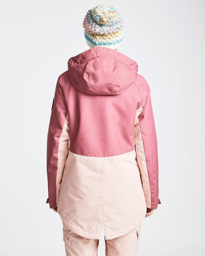3 Women's Sienna Outerwear Jacket Red JSNJQSIE Billabong