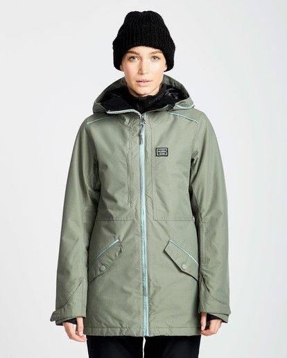 0 Women's Sula Solid Outerwear Jacket Green JSNJQSUL Billabong