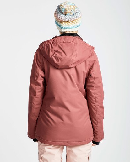 3 Women's Sula Solid Outerwear Jacket Red JSNJQSUL Billabong