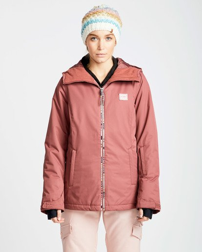 0 Women's Sula Solid Outerwear Jacket Red JSNJQSUL Billabong