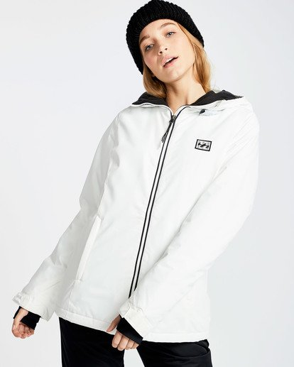 2 Women's Sula Solid Outerwear Jacket White JSNJQSUL Billabong