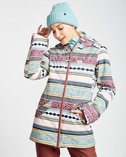 1 Women's Sula Print Outerwear Jacket Green JSNJQSUP Billabong