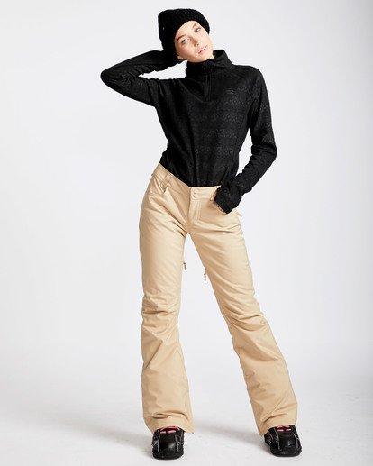 4 Women's Terry Slim Fit Outerwear Pants Beige JSNPQTER Billabong