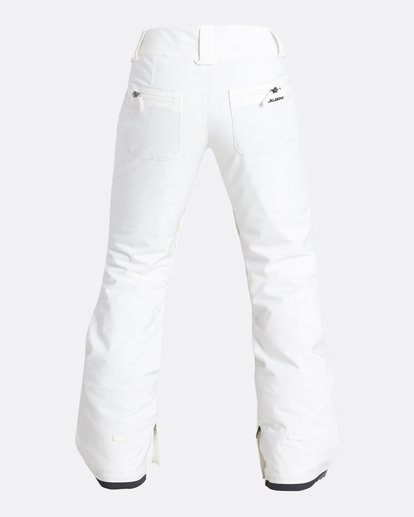 2 Women's Terry Slim Fit Outerwear Pants White JSNPQTER Billabong
