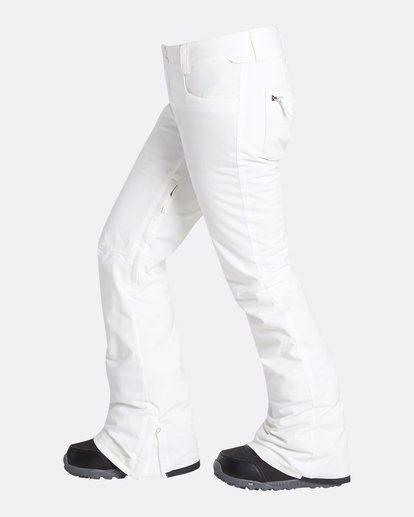 1 Women's Terry Slim Fit Outerwear Pants White JSNPQTER Billabong