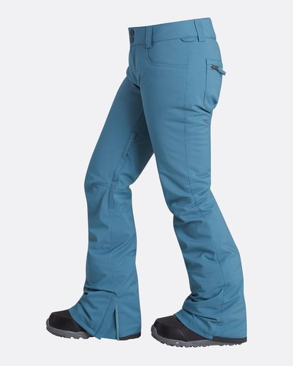 1 Women's Terry Slim Fit Outerwear Pants Brown JSNPQTER Billabong