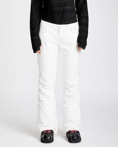 0 Women's Terry Slim Fit Outerwear Pants White JSNPQTER Billabong