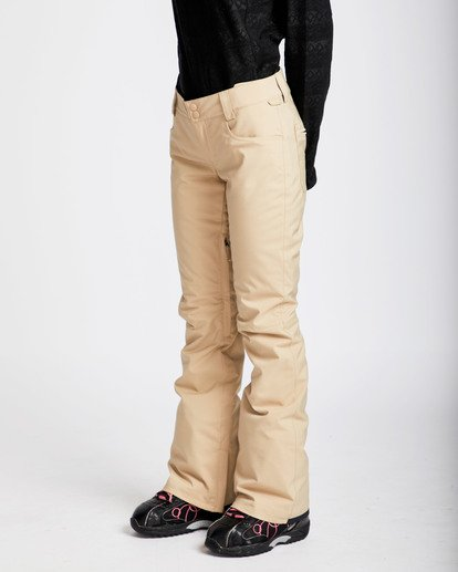 1 Women's Terry Slim Fit Outerwear Pants Beige JSNPQTER Billabong