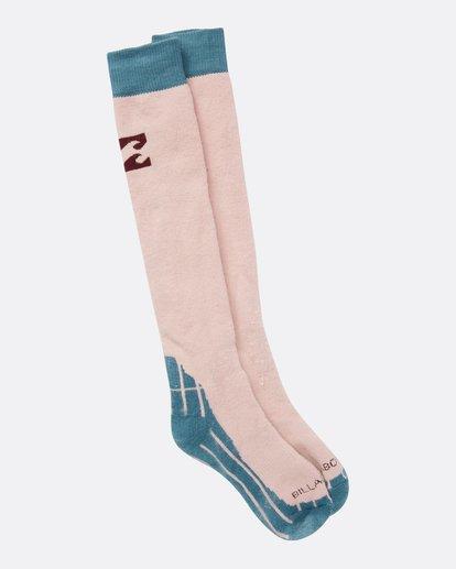2 Women's Alpine Merino Wool Snow Socks  JSSOQALP Billabong