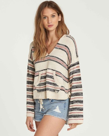 1 Baja Beach Hooded Sweater Beige JV01QBBA Billabong