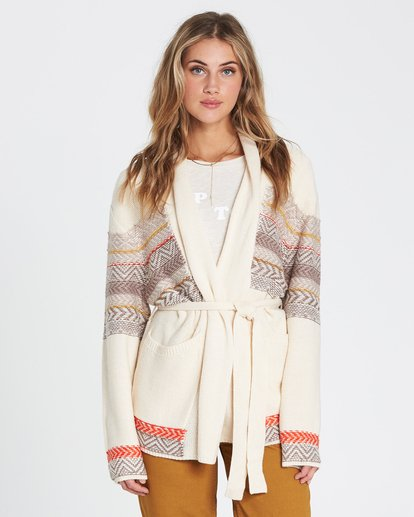3 We Wrapping Wrap Cardigan White JV01SBWE Billabong