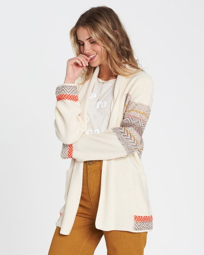 1 We Wrapping Wrap Cardigan White JV01SBWE Billabong