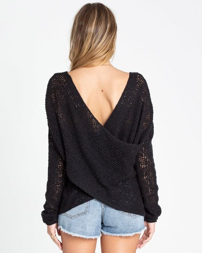 2 After Glow Wrap Sweater Black JV01TBAF Billabong