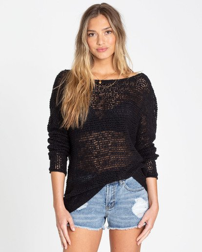 0 After Glow Wrap Sweater Black JV01TBAF Billabong