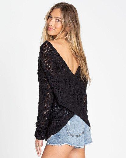 1 After Glow Wrap Sweater Black JV01TBAF Billabong