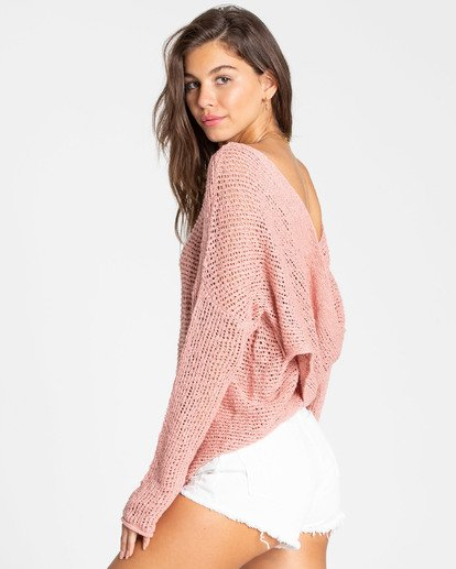 1 After Glow Wrap Sweater Red JV01TBAF Billabong