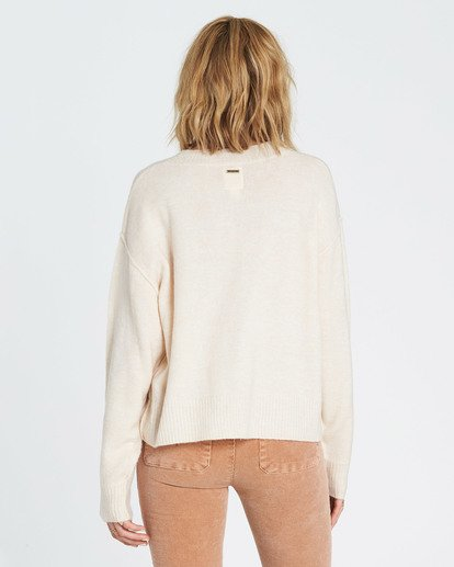 3 Without A Crew Sweater Beige JV02SBWI Billabong