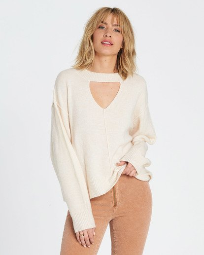 1 Without A Crew Sweater Beige JV02SBWI Billabong