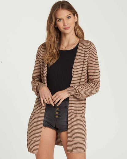0 Worth It Cardigan Sweater Beige JV03PBWO Billabong
