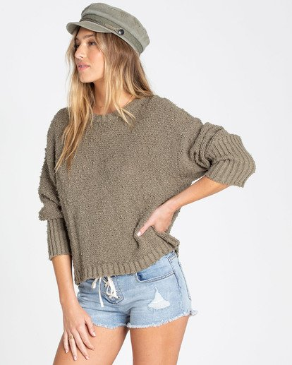 1 Easy Going Sweater Green JV05TBEA Billabong