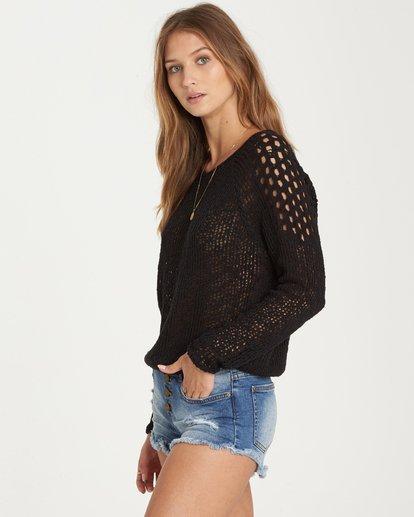 1 Sea Ya Soon Open Knit Sweater Black JV06PBSE Billabong