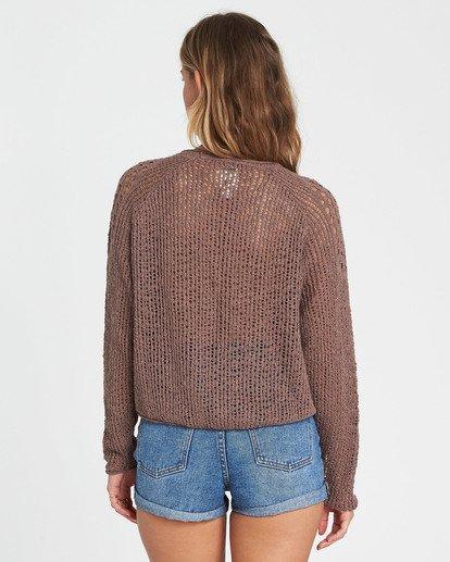 3 Sea Ya Soon Open Knit Sweater Beige JV06PBSE Billabong