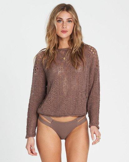 4 Sea Ya Soon Open Knit Sweater Beige JV06PBSE Billabong