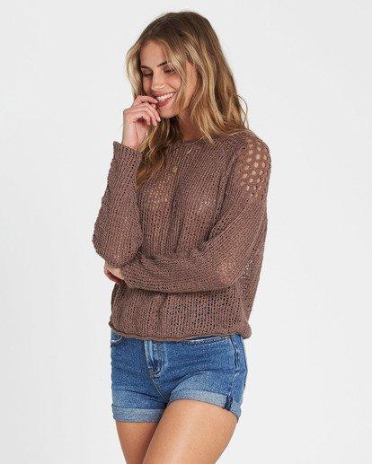 1 Sea Ya Soon Open Knit Sweater Beige JV06PBSE Billabong