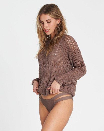 2 Sea Ya Soon Open Knit Sweater Beige JV06PBSE Billabong