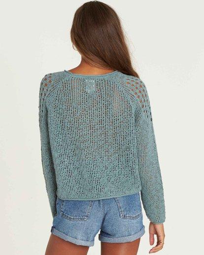 2 Sea Ya Soon Open Knit Sweater Green JV06PBSE Billabong