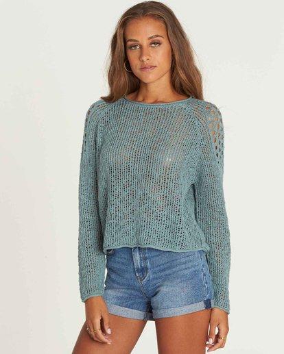 1 Sea Ya Soon Open Knit Sweater Green JV06PBSE Billabong