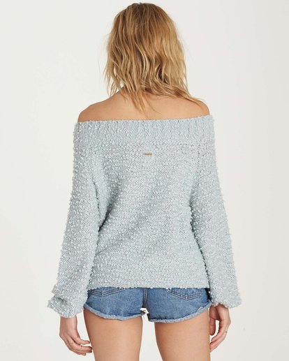 2 Furget Me Not Sweater Blue JV07MFUR Billabong