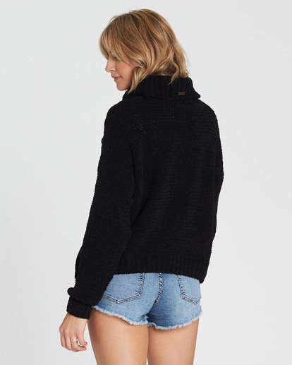 2 On A Roll Chenille Sweater Black JV07SBON Billabong